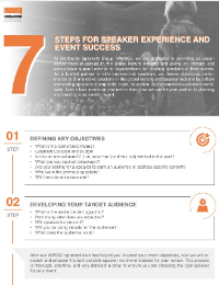 7 Steps for Speaker Experience and Event Success
